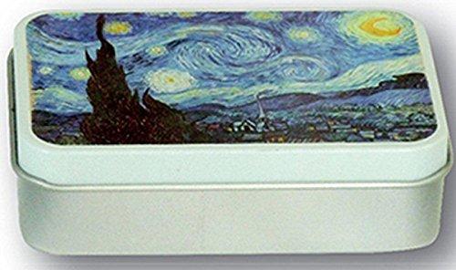 FRANSE VINTAGE METAAL zeep schilder Van Gogh De sterrennacht van 1889