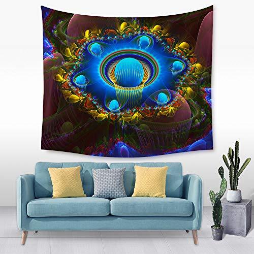 jtxqe Tapiz de Flores Tridimensional Tela Colgante de Pared Tela de decoración de Cama 11 150 * 200 cm