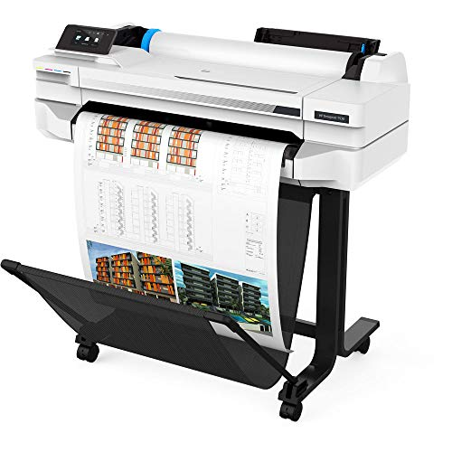 "HP DesignJet T530 24"" Large Format Printer - Color Ink Jet - (5ZY60A#B1K) with Power Strip + Printer Cable + Cat5 Cable + Wire Ties and More - Advanced Bundle Photo #9"