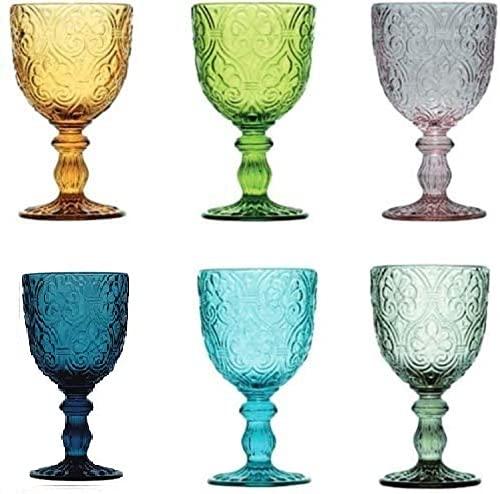 Pagano Home - Juego de 6 copas de cristal para agua/vino de...