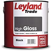 Leyland Trade 264639 High Gloss, Black, 2.5 Litres