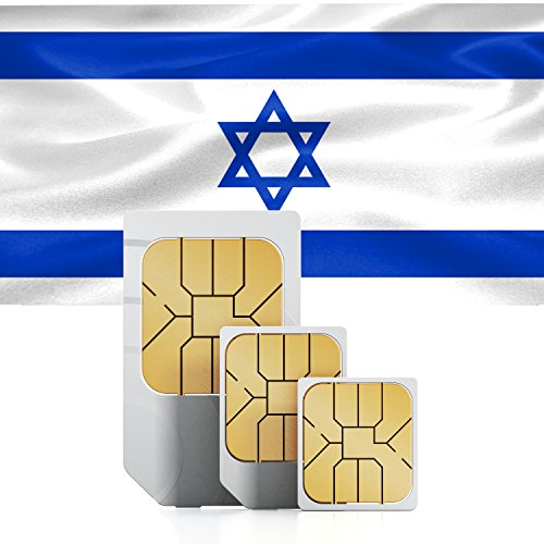 travSIM Prepaid Data Simkaart met 7 Dagen Geldigheid voor Israël, 750MB, Standard, Micro and Nano SIM (trio SIM/factory triple cut) for all kinds of devices