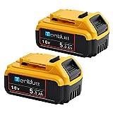 [2 <span class='highlight'>Pack</span>s] TenHutt <span class='highlight'>18V</span> 5.0Ah <span class='highlight'>Replacement</span> <span class='highlight'>Battery</span> for Dewalt <span class='highlight'>DCB184</span> <span class='highlight'>DCB184</span>B-XJ DCB180 DCB181 DCB182 DCB183 DCB185 <span class='highlight'>18V</span> XR Power Tool <span class='highlight'>Battery</span>
