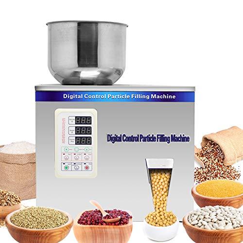 Hanchen 1-50g Puder Partikeln Verpackung Maschine Pulver-Füllmaschine Quantitative Füllung Maschine Wiegen und Füllen von Partikeln 220V für Teesamen Getreide Pulver