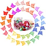 100 PCs Assorted Color Butterfly Hair Clips, Mini...