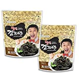 Kwangcheonkim Seasoned Seaweed Flakes Snacks – 2 Packs x 60 Gram Premium Natural Roasted Laver Sushi Nori Resealable Bag김 のり 海苔 紫菜