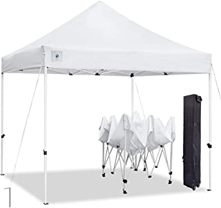 ALLINBOOST 10x10 Pop Up Outdoor Canopy Tent, Banch Canopy Sun Shelter, Commercial Instant Grill Gazebo with Wheeled Carry Bag for Food Vendors, Farmers Market and Backyard Events