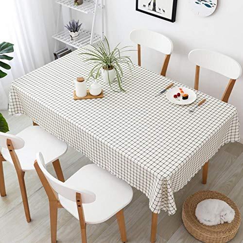 Polyester Tafelzeil Waterdicht Geruit Tafelkleed Keuken Eetkamer Decoratieve Tafelkleed Restaurant 140X160cm