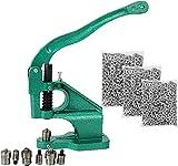 FreeTec Handpresse Maschine Ösenstanze Nietenpresse Druckknopfpresse Handpresse Nieten Ösen, 3 austauschbaren Matrizen(#0#2#4) mit 1500 Stk. silbernen Ösen