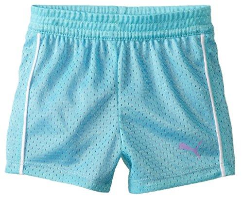PUMA Big Girls' Active Double Mesh Short, Faster Blue, 8-10 (Medium)