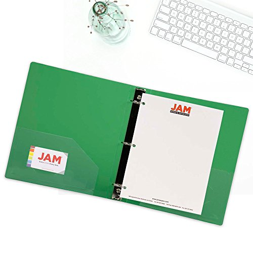 JAM PAPER Plastic 1.5 inch Binder - Green 3 Ring Binder - Sold Individually Photo #5