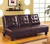 Coaster Sofa Bed-Dark Brown