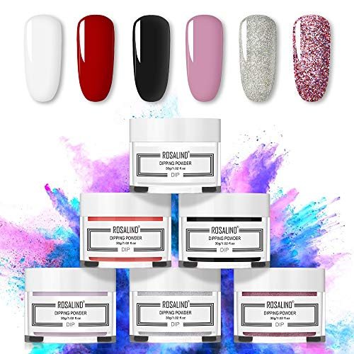 Rosalind Nail Dipping Powder starter Kit 6 Colours polvere lucida per...