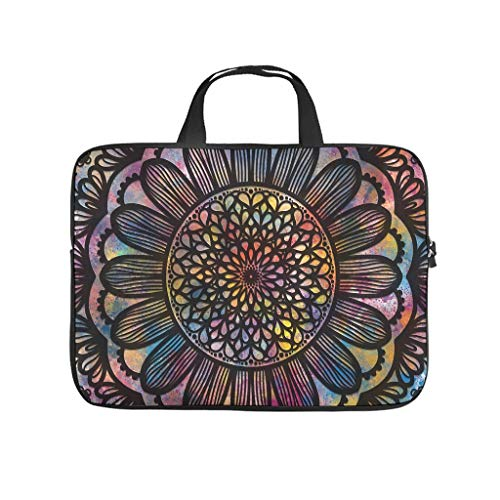 Laptop Sleeve Black Colorful Water-Resistant Lightweight -Computer Case Compatible with 13-15.6 inch Pro White 15inch