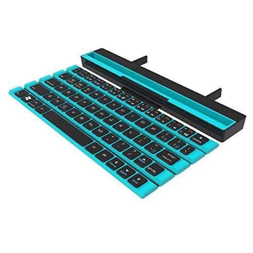 Cosye Rollo Teclado Plegable inalámbrico 64 Teclas Carrete Mini Teclado Plegable para Tableta portátil Smartphone Pad Regalos