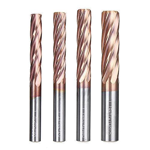 RanDal 6 Nuten 6,5-10 Mm Fräser Hrc55 Hartmetall Altin Beschichtung Schaftfräser Cnc-Werkzeug - 8,0 Mm