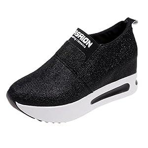 Homebaby Scarpe Zeppe Donna Eleganti,Ragazze Casual Vintage Soft Leather Corsa Camminata Calcetto Scarpette Stivali con Sportive Calzature Sneakers