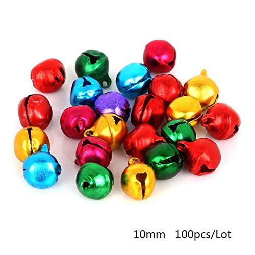 Kies 6mm 8mm 10mm 12mm 14mm Mix kleuren losse kralen Kleine Jingle Bells Christmas Decoration Gift Groothandel, 10mm 100st