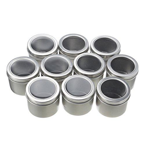 Bluelover 10Pcs Vide Rond en Aluminium Boîte 60Ml Jar Tin Nail Art Décoration Gem Container Boîtes Cadeau
