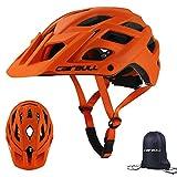 Cairbull Caschi Ciclo Casco Ciclismo Regolabile con Visiera Parasole 55-61 cm Uomo Donne Mountain Sicurezza Protezione Caschi Bicicletta con Lo Zaino