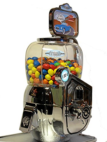 Mini-Fresh-Box Verkaufsautomat. Robuster Süsswarenautomat und Kaugummiautomat