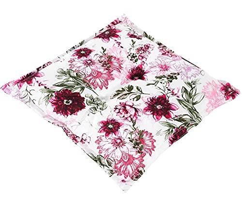 Dehner Sitzkissen Solin, ca. 50 x 50 x 6 cm, Polyester/Polyurethan, pink/weiß