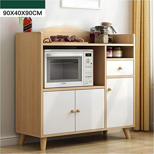XMJ Huishoudelijke dressoir, locker, wijnairconditioner, kast, opbergbox, draagbare keuken, restaurant, kast, serveerwagen, kast, losse kast, 90 x 40 x 90 cm