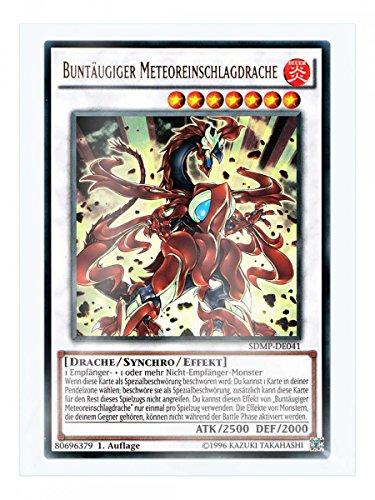SDMP-DE041 Buntäugiger Meteoreinschlagdrache 1. Auflage im Set mit original Gwindi Kartenschutzhülle