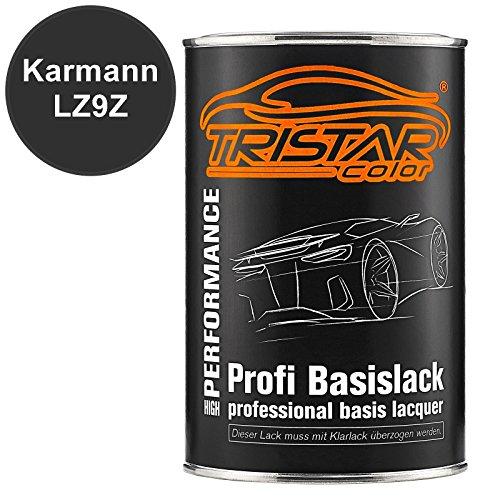 TRISTARcolor Autolack Dose spritzfertig für Karmann LZ9Z Pantherschwarz Kristall Peaerl/Pantherschwarz Perl Basislack 1,0 Liter 1000ml