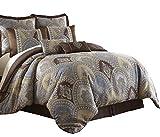 Sterling Creek Venetian 8-Piece Medallion Floral Jacquard Oversized Comforter Set (Queen)