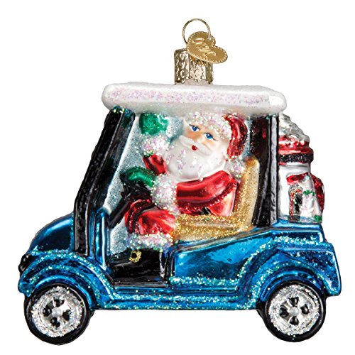 Old World Christmas Lover Gifts Glass Blown Ornaments for Christmas Tree Golf Cart