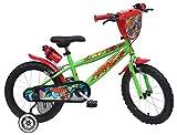Denver - Bicicleta para niño, 16 Pulgadas, Urban-Skate, Ref. 2416, Verde/Rojo