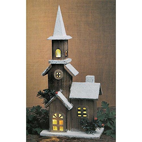 ChoicefullBargain Casetta da Neve in Legno illuminata per Il Paese delle Meraviglie Invernali.