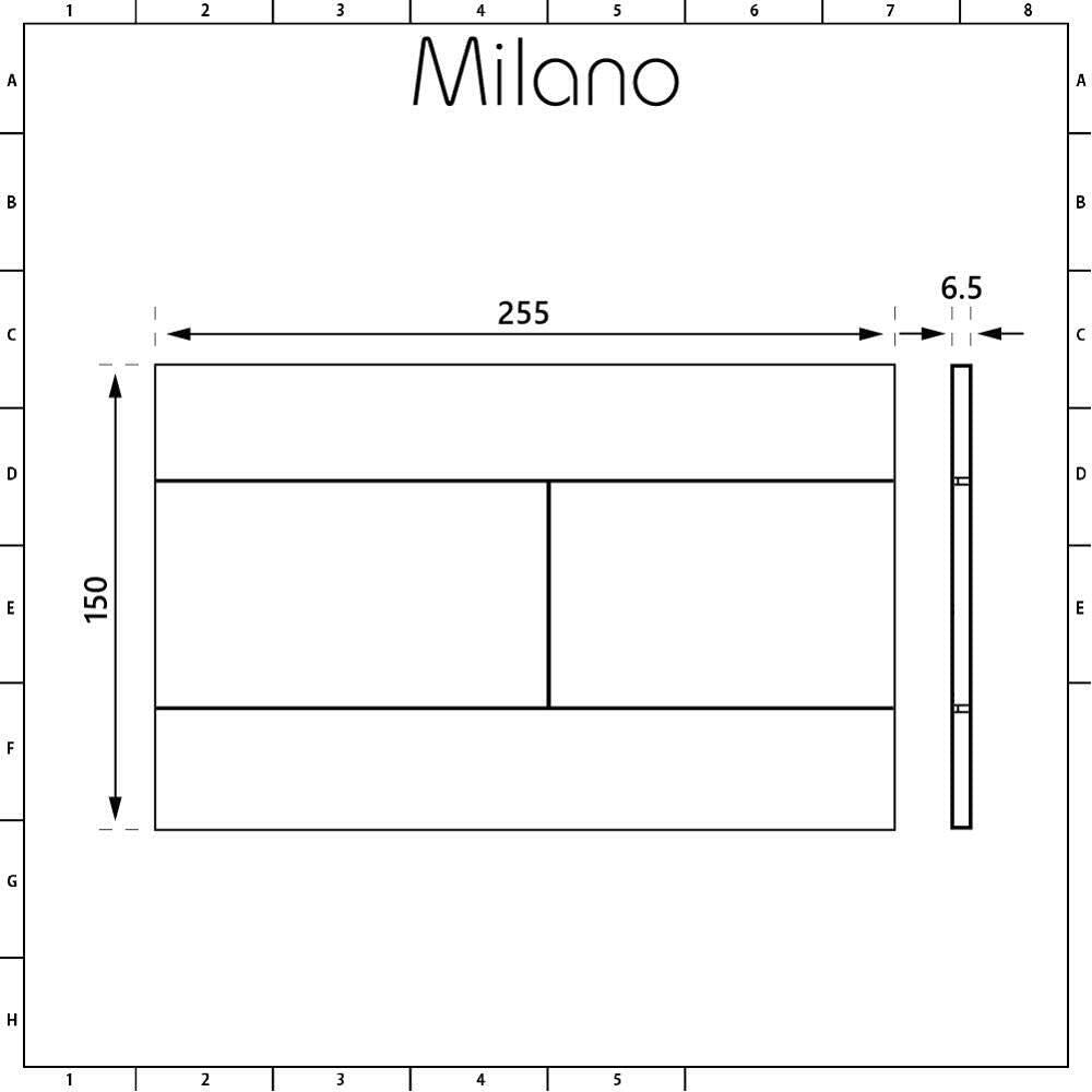 Milano Ballam White Ceramic Modern Bathroom Wall Hung Round Toilet WC with Tall Wall Frame Cistern and Black Flush Plate