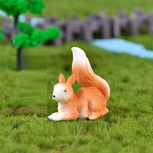 BBKX Escultura Jardin Micro Paisaje suculentas decoración de jardín Lindo Lindo Ardilla Resina artesanías Adornos