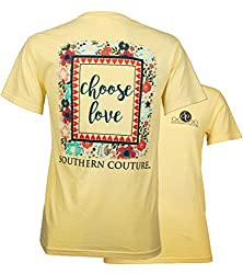 Southern Couture Comfort Color Short Sleeve Christian T-Shirt | Choose Love | Butter Yellow