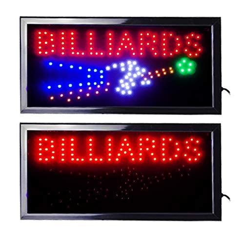 LED Leuchtreklame Werbung, LED Schild, Leuchtschild Noyan® (Billiards)
