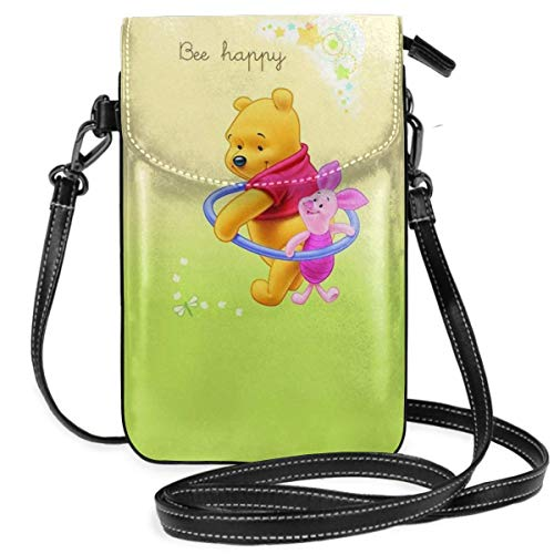 shenguang Womens Crossbody Bags - Bee Happy Winnie The Pooh Small Cell Phone Purse Wallet with Credit Card Slots