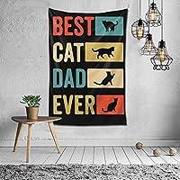 家の装飾これまでで最高の猫のお父さんアートタペストリー壁掛け寝室用多目的寮黒と白60x40インチ