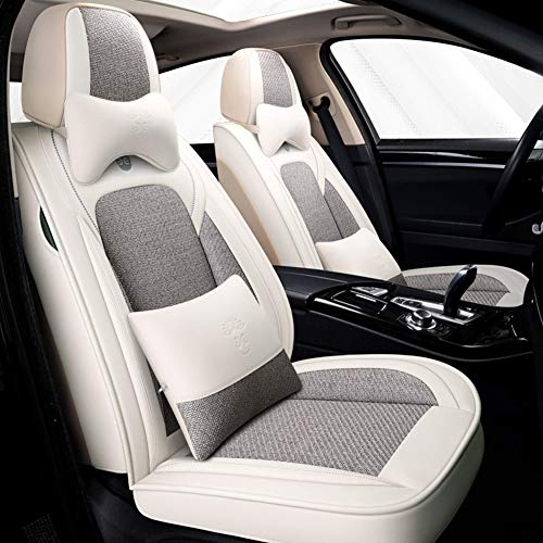 RR-YRC Fashion Sports Style Car Seat Set, Suitable for Cars, Trucks, Suvs, Suitable for BMW 1/3/5/7 Series X1/X2/X3/X5,Gray