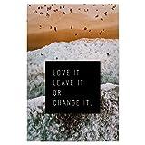 artboxONE Poster 30x20 cm Typografie Love it - Beach - Bild