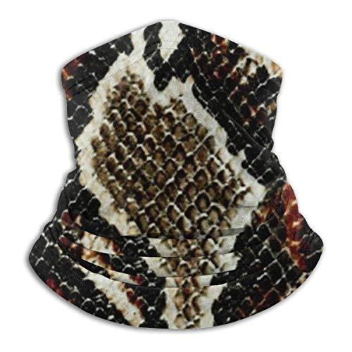 asdew987 Polaina para el cuello de la piel de serpiente con estampado de animales, para la cabeza, máscara solar, bufanda mágica, bandana, pasamontañas, diadema para deportes