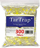 TarTrap Disposable Cigarette Filters - Bulk Economy Pack (300 Per Pack)