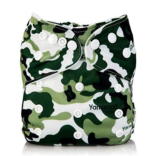 Miwaimao Cloth Diaper Bag 1 herbruikbare luiers wasbaar Katten combinatie van karton groen nappy waterdichte luiertas 3-15 kg