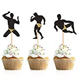 Donoter 36 Pcs Male Dancers Strippers Cupcake Toppers Bachelorette Cupcake Picks Hen Party Decoration Supplies