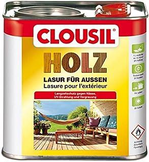 CLOUsil Holzlasur Holzschutzlasur für außen braun Nr. 12, 2.5L: Wetterschutz, UV-Schutz, Nässeschutz und Schimmel für alle Holzarten - in verschiedenen Farben