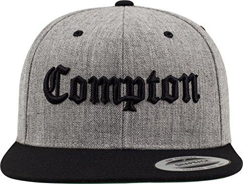 Mister Tee Mütze Compton Snapback, Heather Grey/Black, One Size, MT271-00591-0050