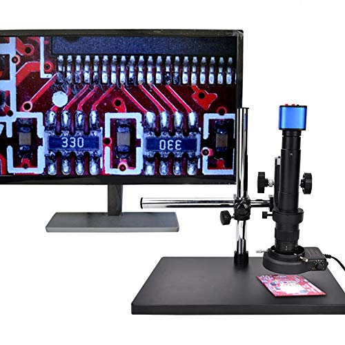 Nannday Microscope Camera, 16 Million Pixel HDMI/USB Industrial Microscope HDMI Camera with 0.7-4.5X Zoom Lens Set for Microelectronics Jewelry Teaching Laboratory(US)