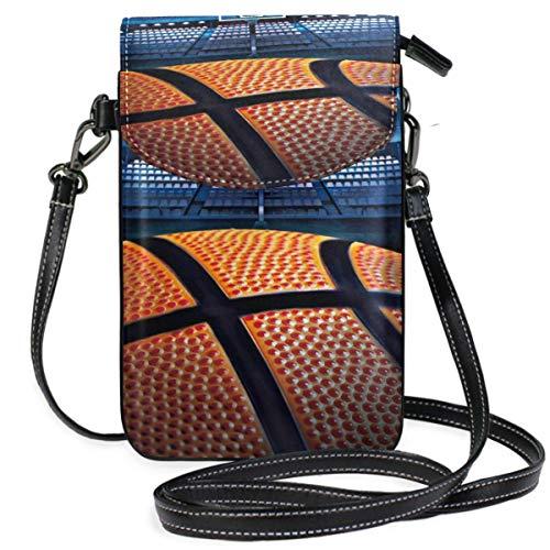 XCNGG Telefontasche Basket Ball Cell Phone Purse Wallet for Women Girl Small Crossbody Purse Bags