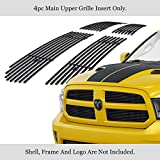 APS Compatible with Ram 1500 2013-2018 & Ram 1500 Classic 19-21 Honeycomb Style Only Main Upper Stainless Steel Black 8x6 Horizontal Billet Grille Insert D65919J